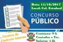 CONCURSO PÚBLICO Nº 001/2017 - CM -Editais 005/17, 004/17,003/17,002/17 e 001/17