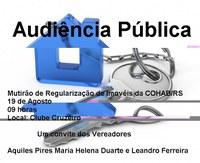 Audiência Pública sobre as casas da COHAB - RS